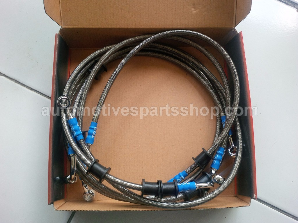 TDR BRAIDED STAINLESS STEEL BRAKE HOSE
